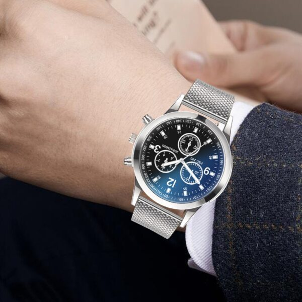 Luxury Men Quartz Watch Fashion Stainless Steel Mens Blue Ray Glass Analog Watches Limited Edition Minimalist Relogio Masculino Fashion Life & Accessories Iwatch & Accessories