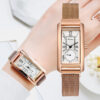 Luxury Rectangle Dial Magnetic Women Rose Dress Watches Business Ladies Sport Wristwatch Female Clock Quartz Watch Relogio Fashion Life & Accessories Iwatch & Accessories