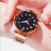 Luxury Rose Gold Women Watches Minimalism Starry Sky Magnet Buckle Fashion Female Bracelet Wristwatch Waterproof Simple Numeral Fashion Life & Accessories Iwatch & Accessories