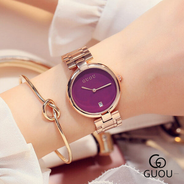Luxury Rose Gold Women Watches With Date Fashion Stainless Steel Watch Montre Femme Simple Ladies Bracelet Bayan Kol Saati Clock Fashion Life & Accessories Iwatch & Accessories