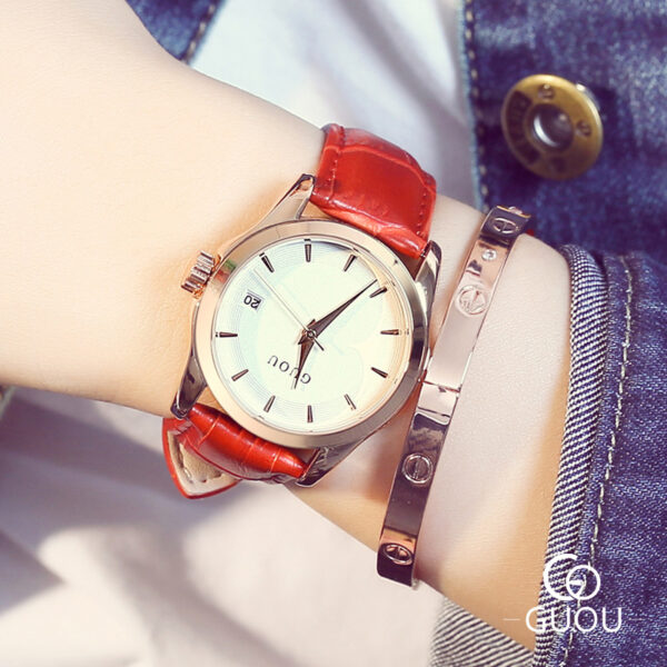 Luxury Rose Gold Women's Clock With Date Fashion Ladies Wrist Watch For Women Relogio Feminino High Quality Leather Female Clock Fashion Life & Accessories Iwatch & Accessories