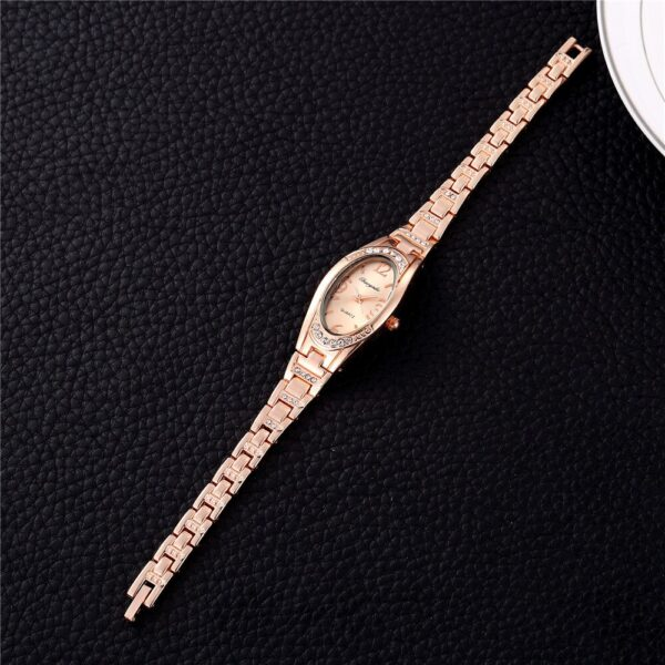 Luxury Small Rose Gold Women Watches Fashion Stainless Steel Bracelet Woman Dress Watch Ladies Casual Hand-Chain Clock Hot #2TWF Fashion Life & Accessories Iwatch & Accessories