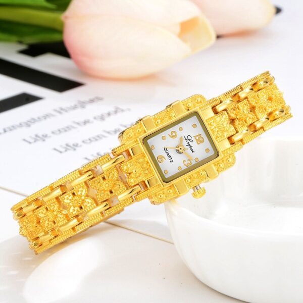 Luxury Stainless Steel Golden Women Watches Fashion Rectangle Ladies Dress Quartz Watch Female Casual Clock Reloj Mujer #2TWL Fashion Life & Accessories Iwatch & Accessories