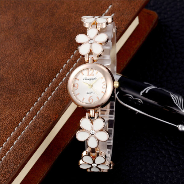Luxury Stainless Steel Ladies Watch Flower Fashion Women Jewelry Watches Casual Rose Gold Bracelet Female Clock Relogio Feminino Fashion Life & Accessories Iwatch & Accessories