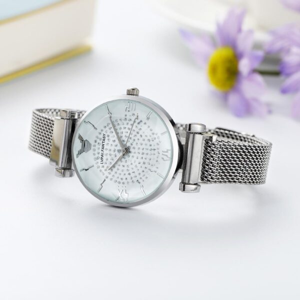 Luxury Women Magnetic Dress Watches Ladies Bracelet Rose Gold Starry Sky Quartz Clock Luxury Rose Gold Business Watch Gifts Fashion Life & Accessories Iwatch & Accessories