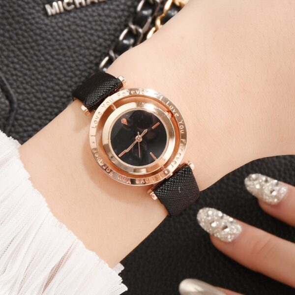 Luxury Women Watches Rose Gold Leather Ladies Wrist Watches Color Dial Women Bracelet Watch Female Clock New Relogio Feminino Fashion Life & Accessories Iwatch & Accessories