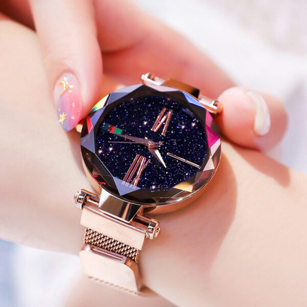 Luxury Women Watches Saati Magnetic Buckle Band Creative Fashion Stainless Steel Woman Watch Relogio Feminino Reloj Mujer Clock Fashion Life & Accessories Iwatch & Accessories