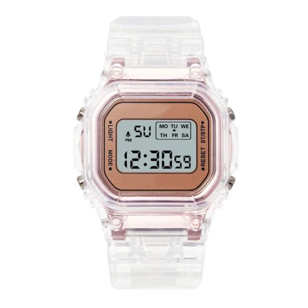 Luxury Women's Rose Gold Silicone Watches Women Fashion LED Digital Clock Casual Ladies Electronic Watch Reloj Mujer 2020 watch & Accessories