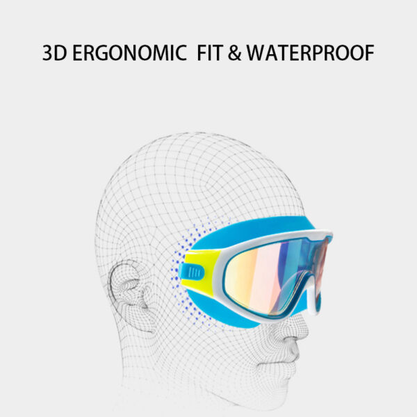 Shop7e Swim Goggles for Kids Anti-Fog UV Protection Clear Wide Vision Swim Glasses With Earplug for 4-15 Years children SY5031 Kitchen