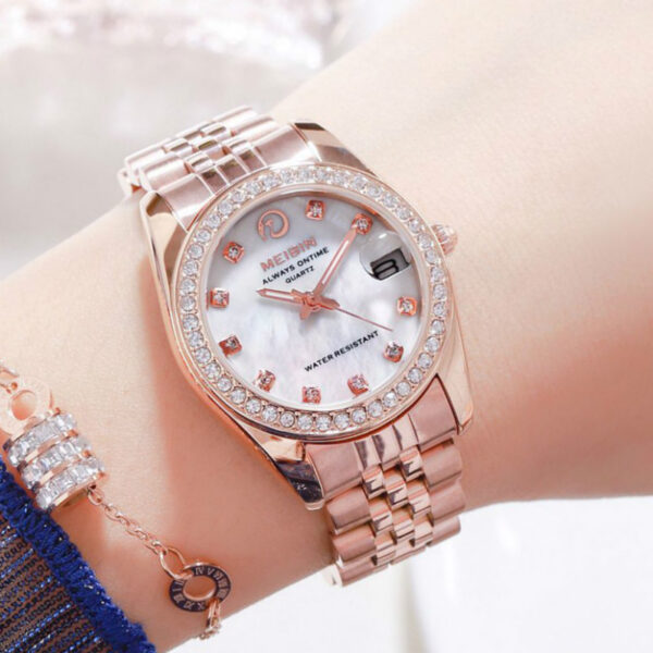 MEIBIN Dropshipping 2020 Hot Selling Diamond Wrist Watches For Women Stainless Steel Gold Female Watch Hour Quartz Wristwatches Fashion Life & Accessories Iwatch & Accessories