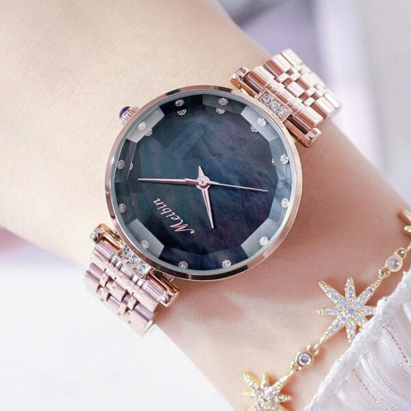 MEIBIN Top Brand New Stainless Steel Wristwatches Luxury Japan Quartz Movement Rose Gold Designer Elegant Style Watches For Wome Fashion Life & Accessories Iwatch & Accessories