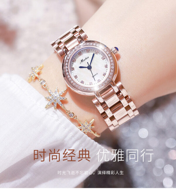 MEIBIN Women Diamond Watch For High Quality Casual Waterproof Stainless Steel Wristwatch Lady Quartz Watch Gift for Wife 2020 Fashion Life & Accessories Iwatch & Accessories
