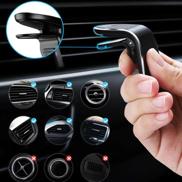 Magnetic Car Holder For Phone in Car Air Vent Mount Holder Clip Magnet Support Strong Mobile GPS Navigation Cell Auto Smart F9M2 Car accessories