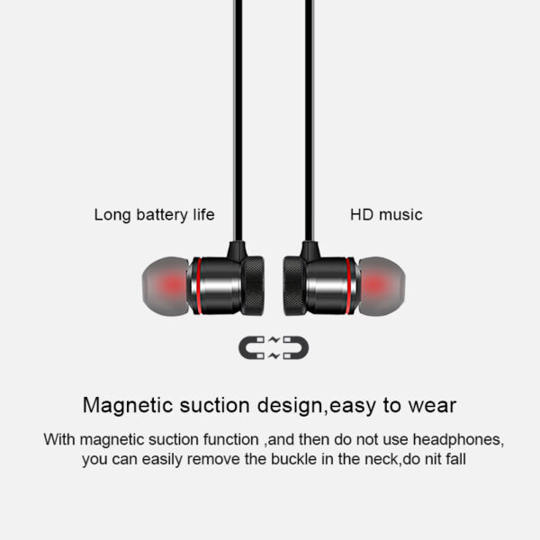Magnetic Wireless bluetooth Earphone Music Headset Phone Neckband Sport Earbuds Headphones With Mic For iPhone Samsung Xiaomi Bluetooth headphones