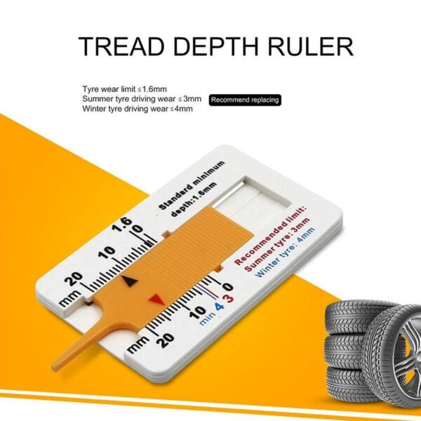Measure Tool Measrement Supplies 0-20mm Indicator Metalworking Auto Car Tyre Read Depthometer Depth Gauge Page Motorcycle Car accessories