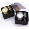 Men Watch Bracelet Set Luxury Gold Fashion Steel Belt Mens Analog Watch Business Wrist Watches Gift Box For Mens Dropshipping Fashion Life & Accessories Iwatch & Accessories