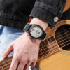 Men Watches Causal Dress Nylon Weave Strap Luminous Hands Rounded Rectangle Big Crown Masculinity Analog Clock Fashion Life & Accessories Iwatch & Accessories