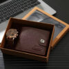 Men Watches High Quality Quartz Wrist Watch with Folding Clasp Leather Wallet Gift Set for Men Boyfriend Dad Father's day Gifts Fashion Life & Accessories Iwatch & Accessories