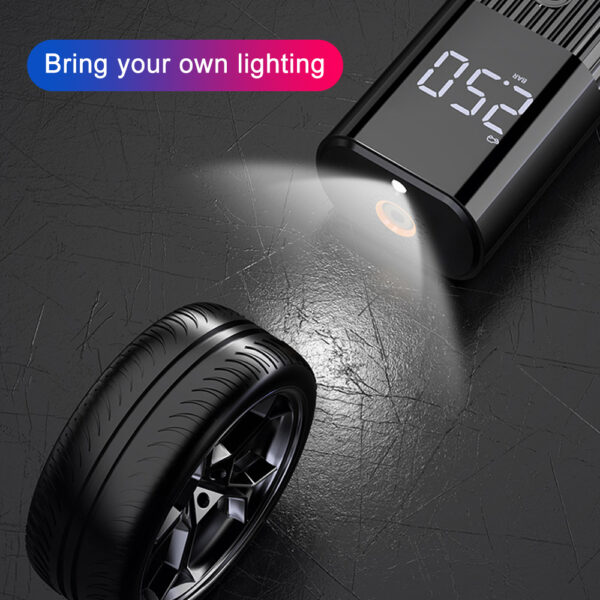 Mini Car Air Pump Compressor Digital Wired Car Tyre Inflatable Pump 60W 12V LED Flash Light For Car Motorcycle Bicycle Car accessories