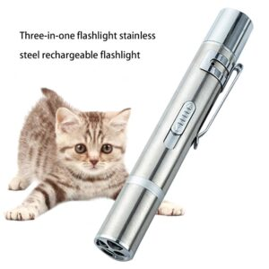 Mini Waterproof Stainless Steel Alloy LED Flashlight USB Rechargeable Built-in AA Battery Portable Flashlight Moon Shape Torch Fashion Life & Accessories