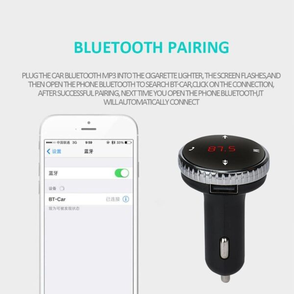 Modulator Car Kit MP3 Player Wireless Bluetooth LCD Kit Transmitter Car New Bluetooth Microphone FM 87.5-108.0 With MHZ F8T5 Car accessories