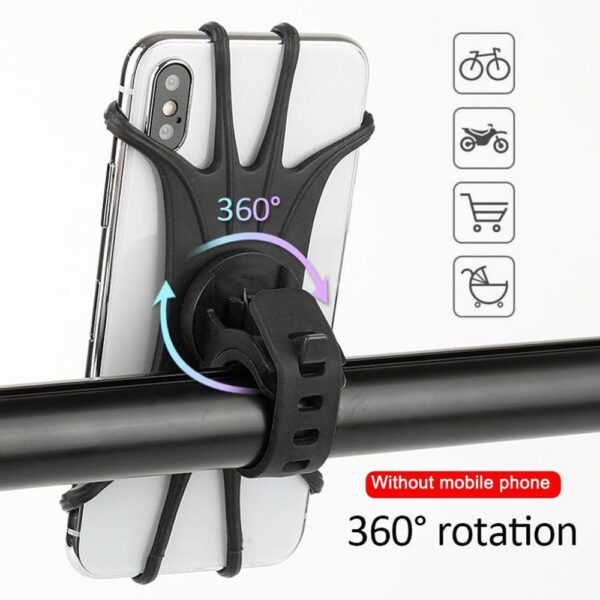 Motorcycle Bicycle Bracket Handlebar Holder Universal Riding Mobile Phone Holder Silicone Bracket Can Be Rotated Car Fitting Car accessories