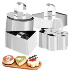 Mould For Salad Baking Dish Diy Bakeware Tools Cupcake Mold Cake Cheese Salad Dessert Die Mousse Ring Tool Stainless Steel Kitchen