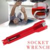 NEW 8 In 1 Flume Wrench Anti-slip Kitchen Sink Repair Wrench Bathroom Faucet Assembly Plumbing Installation Wrench Car accessories