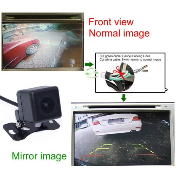 New Car Rear View Camera Universal HD Night Vision Backup Parking Camera 170 Wide Angle Waterproof Rearview Cameras For Reverse Car accessories