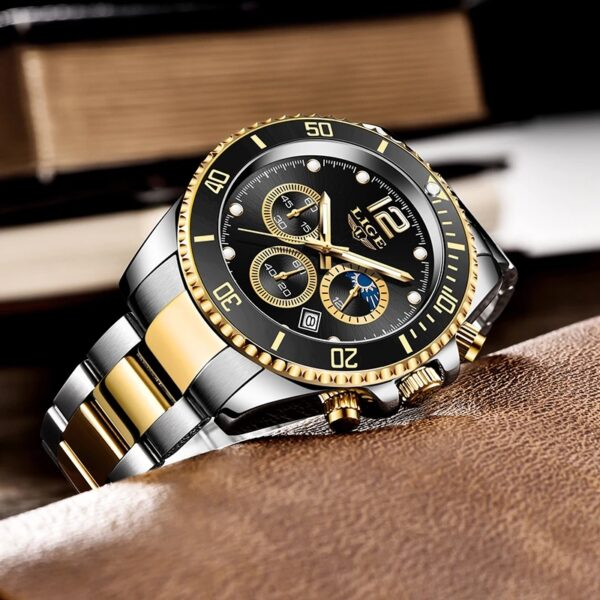 New LIGE Relogio Masculino Men Watches Luxury Famous Top Brand Mens Fashion Casual Dress Watch Military Quartz Wristwatches Saat Fashion Life & Accessories Iwatch & Accessories