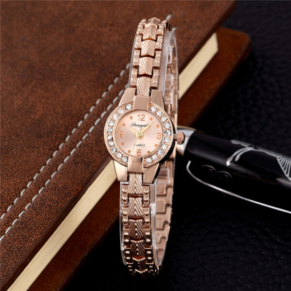 New Luxury Stainless Steel Rhinestone Jewelry Watches Fashion Small Rose Gold Women Quartz Watch Ladies Casual Dress Clock #2TWF Fashion Life & Accessories Iwatch & Accessories