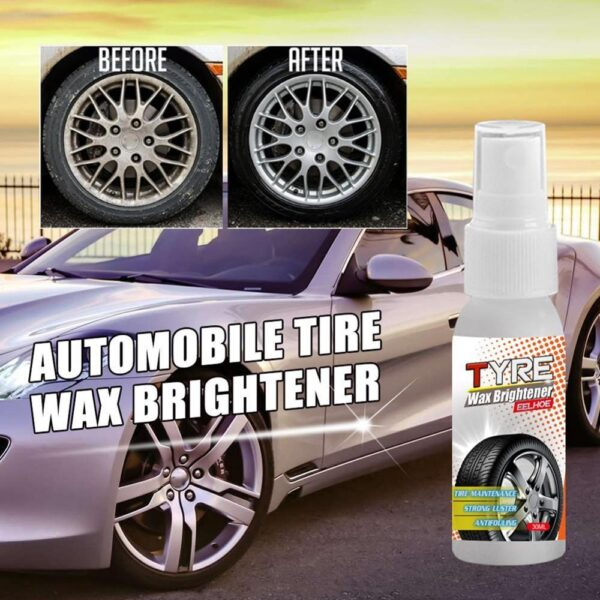 New Style Car Tire Wax Brightener Strong Decontamination Foam Cleaning Tire Shine Spray Anti-aging Tire Hard Coat Car accessories