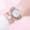 New Watch For Women Strawberry Pattern Leather Band Analog Quartz Ladies Watches Flowers Bracelet Clock Wristwatches Reloj Mujer Fashion Life & Accessories Iwatch & Accessories
