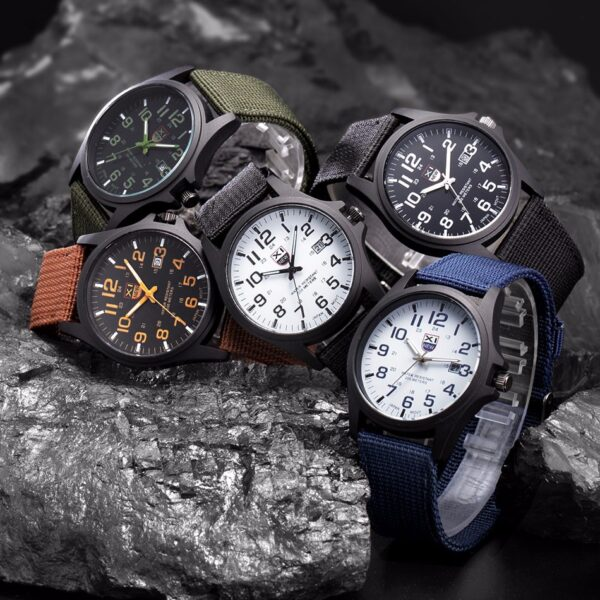 Outdoor Mens Date Stainless Steel Military Sports Analog Quartz Wrist Watch Men's Watch Wrist Party Decoration Business Wat Fashion Life & Accessories Iwatch & Accessories