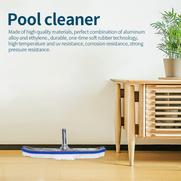 Outdoor Swimming Pool Brush Durable Pool Cleaner Vacuum Algae Cleaning Brush Head Pool Wall Scrubber For Spa Hot Spring Pool Swimming