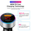 PD USB Car Charger USB Mini Quick Charge 3.0 6A 36W QC3.0 Fast Charger For iPhone 12 Huawei Xiaomi Type C Phone LCD Display Car accessories