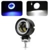 Pair Motorcycle LED Headlight DRL Spot Light Off Road Driving Flash Fog Lamp Set Car accessories