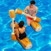 Parrot Giant Flower Print Swan Inflatable Float For Adult Pool Party Toys CherryFlamingo Ride-On Air Mattress Swimming Ring boia Swimming
