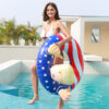 Pool Float Donald Trump Best Inflatable For The Summer, Fun Swimming Floats For Pool Party Fun Trump Swimming Ring Circle Swimming