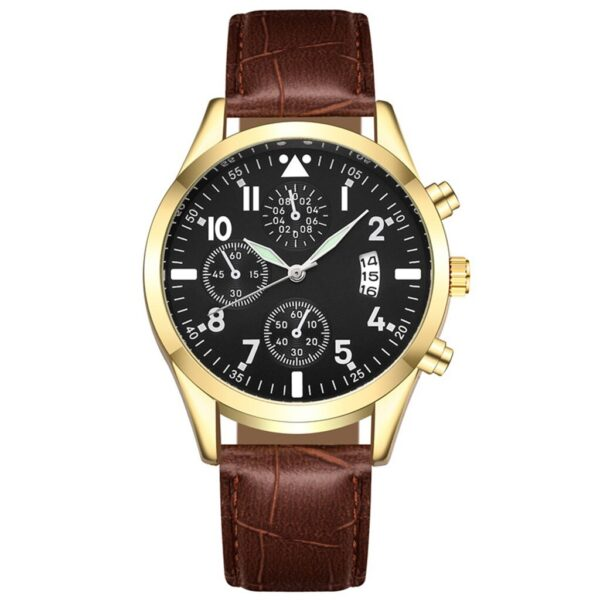 Popular Men's Leather Watch With Calendar Function Plus Luminous Function Watch Minimalist Men Fashion Ultra Thin Watches Fashion Life & Accessories Iwatch & Accessories