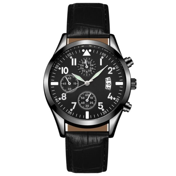 Popular Mens Leather Watch With Calendar Function Plus Luminous Function Watch men Wrist Watches top brand luxury Montre homme#2 Fashion Life & Accessories Iwatch & Accessories