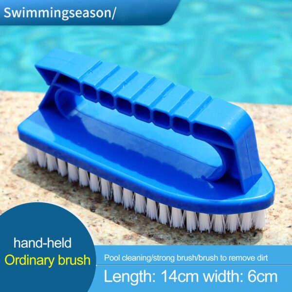 Portable Cleaning Brushes Hot Scum Sink Swimming Pool Waterline Scrubber With Handle Pool Wall Scrubbing Tool Accessories Swimming
