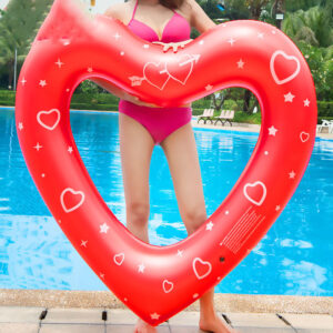 Print Sweet Heart Fun Fruit Lemon Watermelon Swimming Ring Inflatable Mattress Float Water For Adult Child Pool Float Party Toys Swimming Swimming