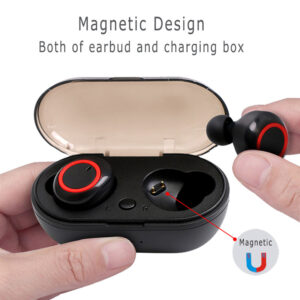 ROCKSTICK Y50 bluetooth earphone 5.0 Wireless Headphons earphones Earbuds Stereo Gaming Headset With Charging Box for phone Earbuds