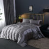 Rayon Bedding Sets Luxury Duvet Cover Set Solid Color Bed Sheet Set Single Double Queen King Size Silky Quilt Cover Set Bedrooms