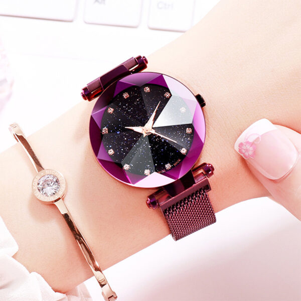Reloj Mujer Luxury Stainless Steel Starry Sky Watch Women Fashion Magnet Buckle Wrist Watches For Women Clock Bling Ladies Watch Fashion Life & Accessories Iwatch & Accessories