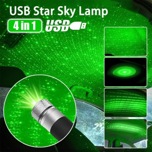 Roof Star Projection Light Romantic USB Night Light Car Atmosphere Light Adjustable And Flexible Car And Ceiling Decoration Car accessories