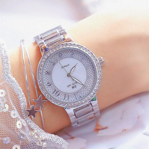 Rose Gold Women Watches Luxury Fashion Waterproof Rhinestone Lady Watch Elegant Unique Casual Stainless Steel Creative Clocks Fashion Life & Accessories Iwatch & Accessories