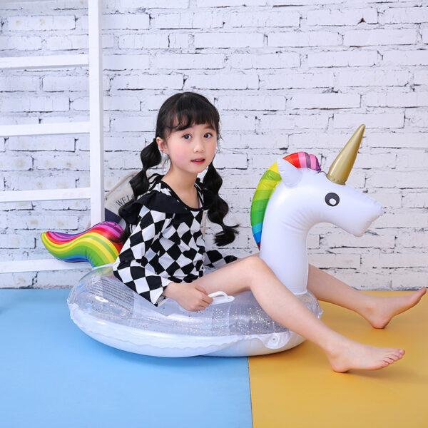Sequin Unicorn Flamingo Inflatable Swimming Circle Pool Float Baby Swimming Seat Water Seat Summer Party Pool Toys for Kids Swimming
