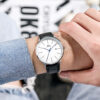 Simple Casual Business Men Watch With Calendar 3ATM Water Resistant Japan Movement 3 Year Battery Life PU Leather Strap Fashion Life & Accessories Iwatch & Accessories